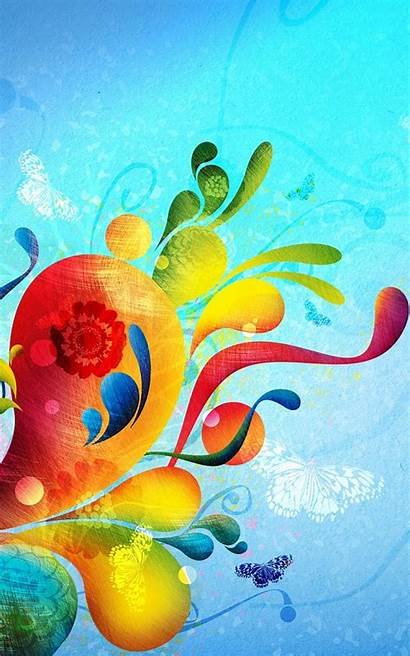 Abstract Iphone Colorful Shapes Painting Wallpapers Android