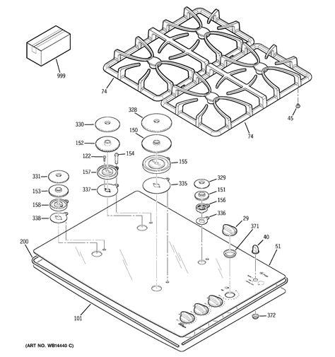 ge model jgpkekcc counter unit gas genuine parts