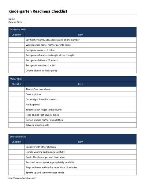 Checklist Template Word Blank Checklist Template Exle Mughals