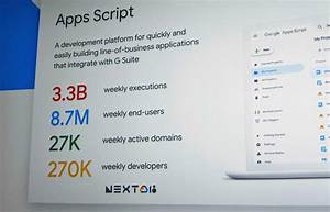 Notes On The Future Of Google Apps Script From Google