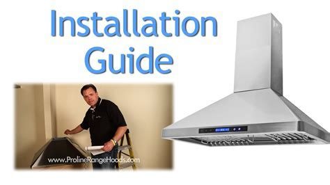 How to Install a Wall Mount Range Hood   PLJW 129   YouTube