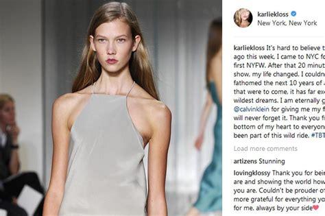 Karlie Kloss Celebrates Her Career Sweet Social Media Post