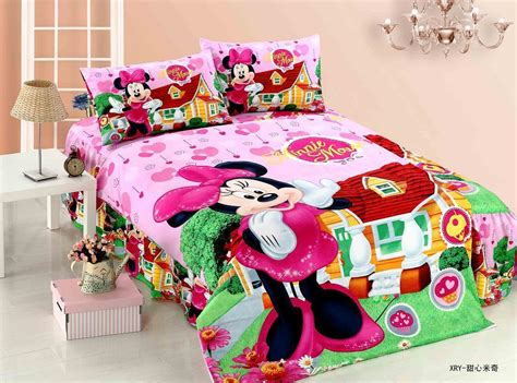 Online Get Cheap Minnie Mouse Bedding Set -aliexpress.com Toddler Room Curtains Natural Cotton Shower Curtain Colonial Style Rod Sets Designer Fabric Metallic Sheer Poles Rods Inside Window Frame