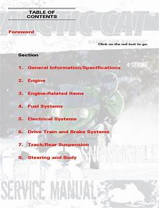 Arctic Cat 4 Stroke Service Manual 2008 Repair Manual
