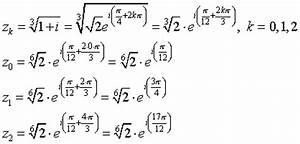 Nullstellen Berechnen Komplexe Zahlen : radizieren komplexer zahlen ~ Themetempest.com Abrechnung