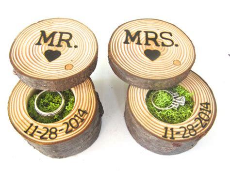 wedding ring bearer box mr and mrs engagement ring box ring box tree branch ring box