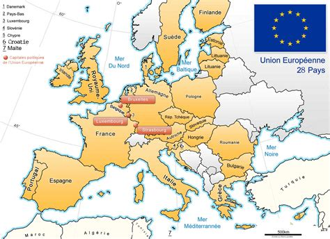 Carte Européenne Avec Capitales by Comment Apprendre Les 27 Pays De L Union Europeenne