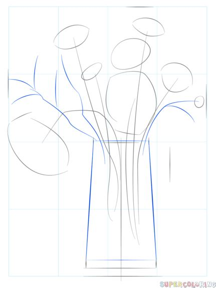 draw  bouquet  flowers step  step drawing