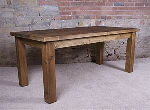Solid wood dining table by hf notonthehighstreetcom for Solid wood table