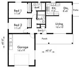 2 bed 2 bath floor plans adu small house plan 2 bedroom 2 bathroom 1 car garage