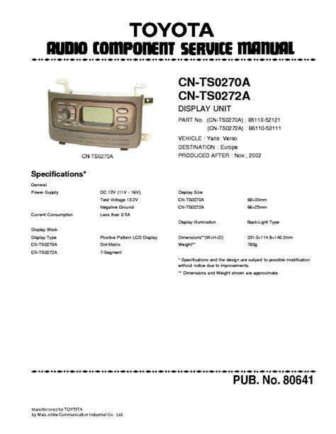 free online car repair manuals download 1994 toyota paseo free book repair manuals toyota yaris service manual free download