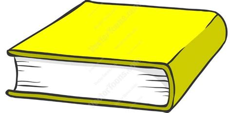 Yellow Hardcover Book Cartoon Clipart