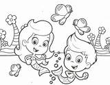 Coloring Guppies Bubble Pages Print Molly Gil Line Printable Nick Jr Library Bubbles Friends Adults Ages Getcolorings Cartoon Clip Characters sketch template