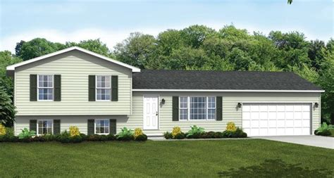 tri level home custom home floor plans the brighton split level wayne homes split level exterior