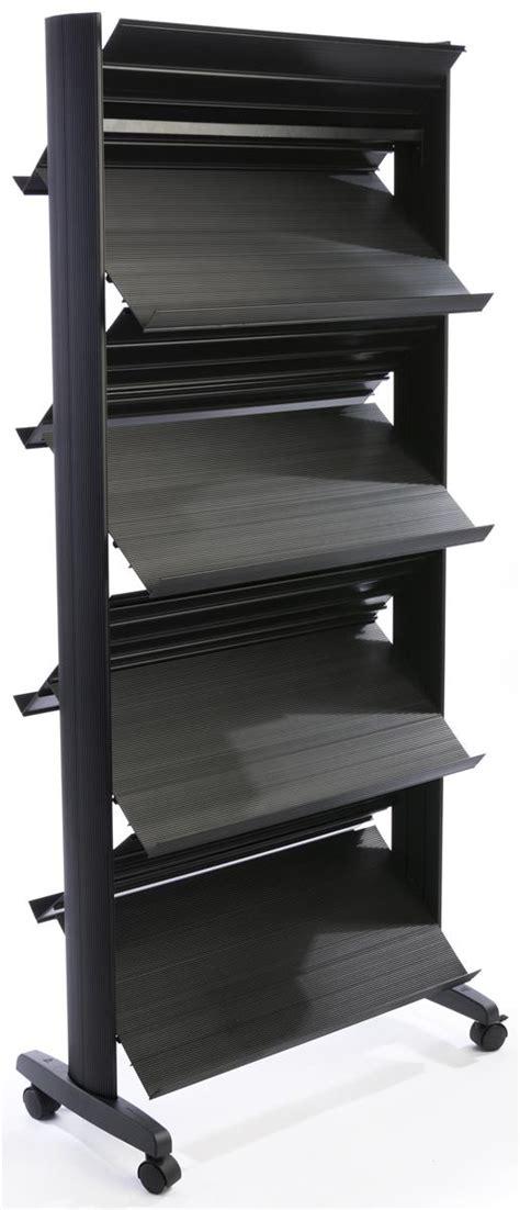 rolling shelf rack rolling magazine rack eight adjustable shelves