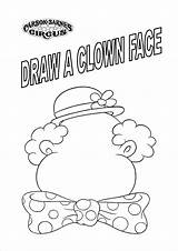 Circus Coloring Pages Clown Sheets Face Carnival Faces Printable Kindergarten Preschool Draw Printables Qqa Getdrawings sketch template