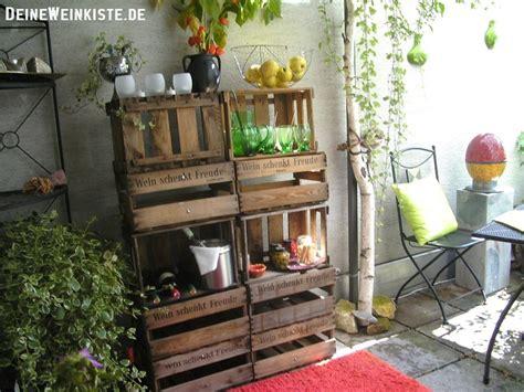 Deko Für Die Terrasse by Weinkisten Balkon Terrasse Mit Anti Holzwurm W 228 Rmebehandlung
