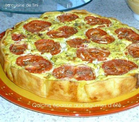 cuisine été facile quiche épaisse aux légumes d 39 été la cuisine facile de tini