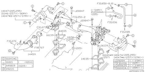 14459aa223 genuine subaru duct assy air intake