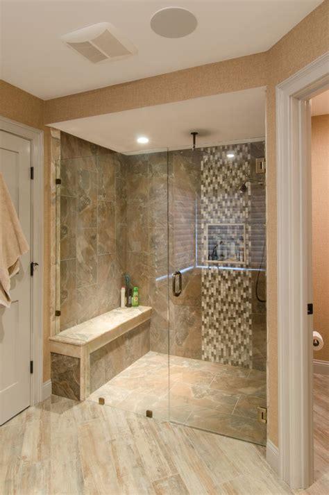 custom shower ideas shower ideas large tile shower with custom shower seat