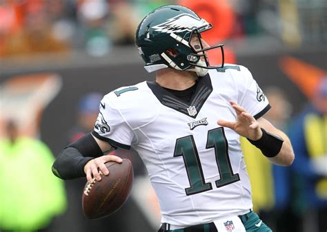 eagles qb carson wentz throwing  ints