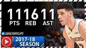Lonzo Ball Triple-Double Full Highlights vs Nuggets (2017 ...