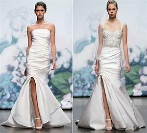 2012 wedding dress trends slits monique lhuillier bridal With wedding dresses with slits
