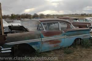 58 Chevy Junk Yard Cars