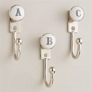 monogram letter hooks world market With letter key hooks