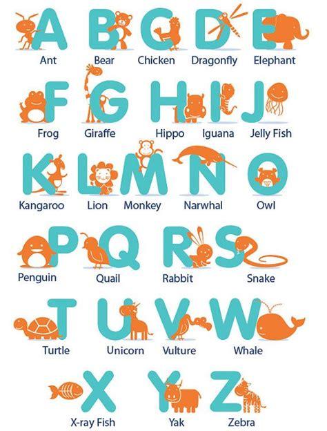 kids letters   alphabet  animals