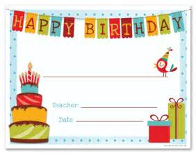 Happy Birthday Certificate Templates Free