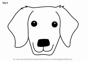 Learn How to Draw a Golden Retrivever Dog Face for Kids ...
