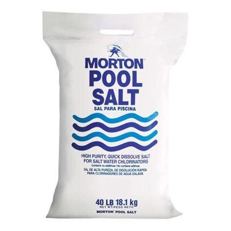 Salt Ls Sold Walmart by Morton Salt Pool Salt 40 Lb Bag Walmart