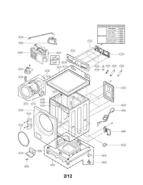lg washing machine parts model wmhwa sears partsdirect