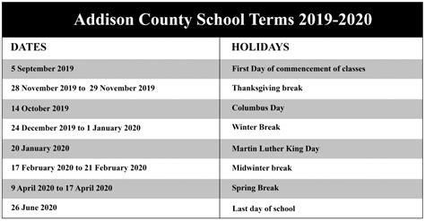 addison central school district calendar nyc school calendar