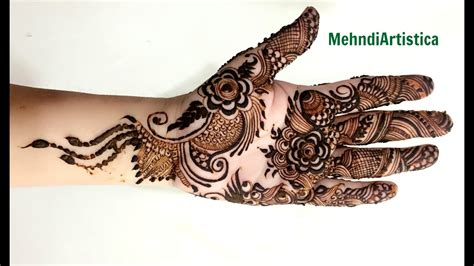 beautiful elegant mehndi designs  handsmodern