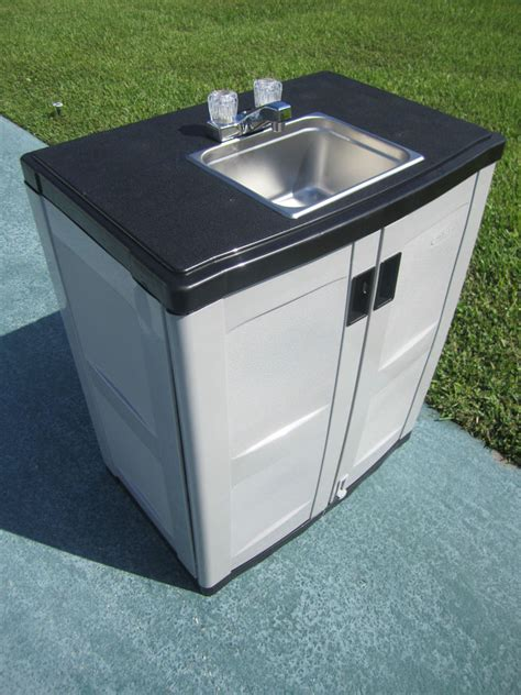 self contained portable hand wash sink hot water ebay