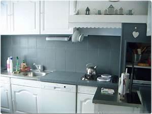 Peindre Faience Cuisine : carrelage cuisine renovation ~ Melissatoandfro.com Idées de Décoration