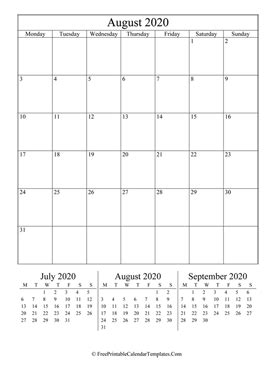 august  calendar printable  holidays