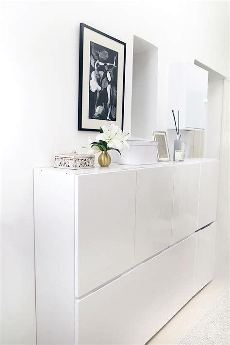 bureau peu profond meuble blanc peu profond à placer dans une entrée pour