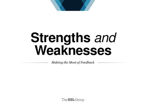 strengths and weaknesses strengths and weaknesses the most of feedback