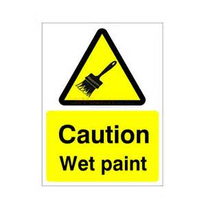 Caution Wet Paint Sign Printable