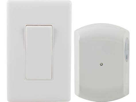 ge 18279 wall switch light remote with 1 outlet receiver newegg