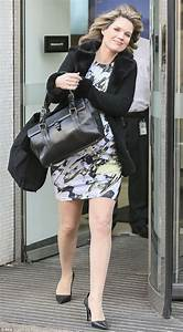 Heavily pregnant Charlotte Hawkins is flawless as she ...