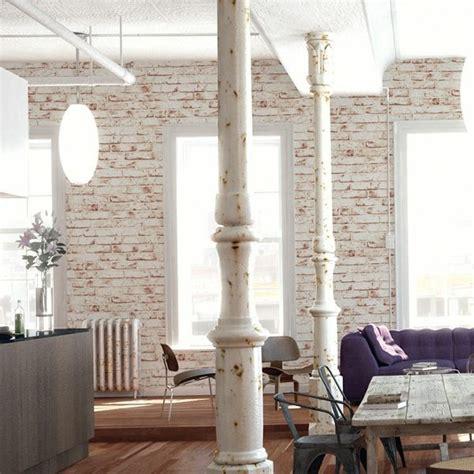 Ausgezeichnet Wohnzimmer Gestalten Tapeten Backstein Tapete Rustikales Wohnzimmer Einrichten Wanddeko