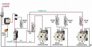 Star Delta Starter Control Wiring Diagram With Timer Pdf
