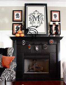 The Yellow Cape Cod  Halloween Mantel  Mantle