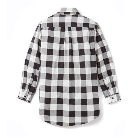 rasco fr black white plaid shirt