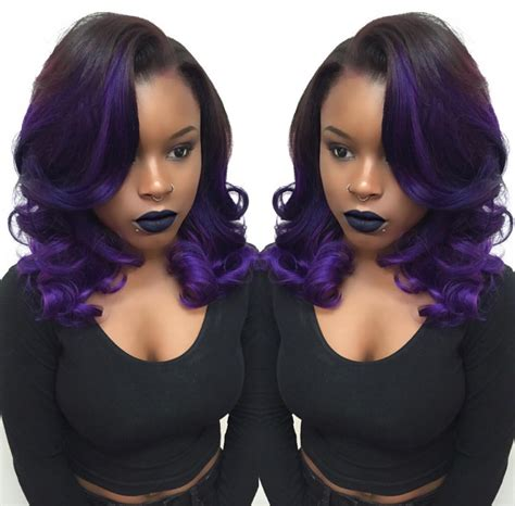 Ombre Weave Hairstyles by This Purple Ombre By Hairbylatise Black Hair