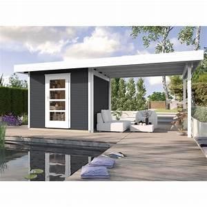 Gartenhaus Mit Glasfront : weka holz gartenhaus wekaline anthrazit 240 cm x 235 cm mit anbau 300 cm kaufen bei obi ~ Sanjose-hotels-ca.com Haus und Dekorationen